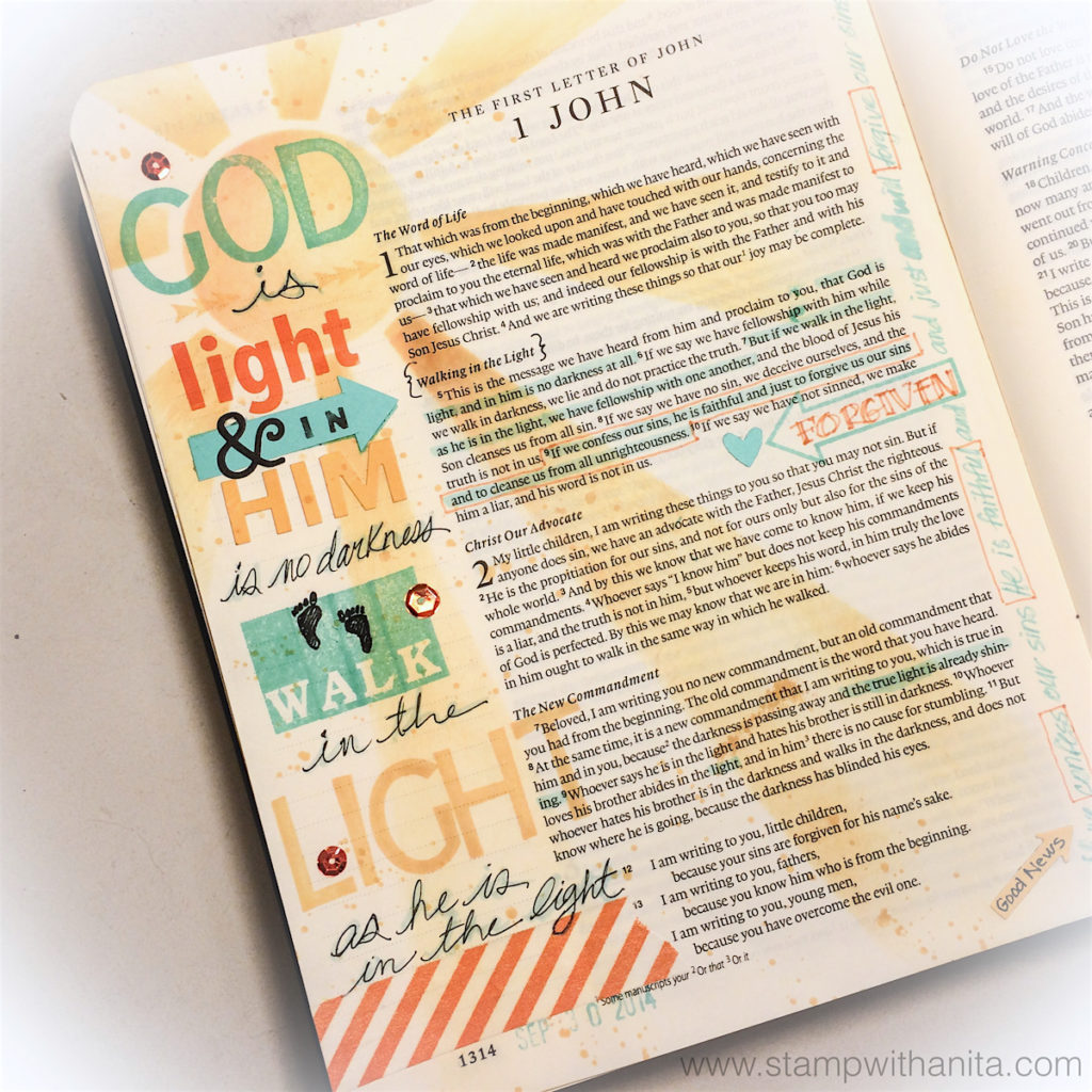 Bible Journaling - Trusting in GOD - Touch the Edge Studios